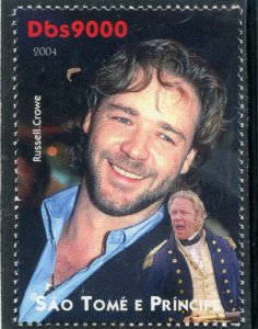 Sao Tome & Principe 2004 RUSSEL CROWE Australian Actor 1v Perforated Mint (NH)