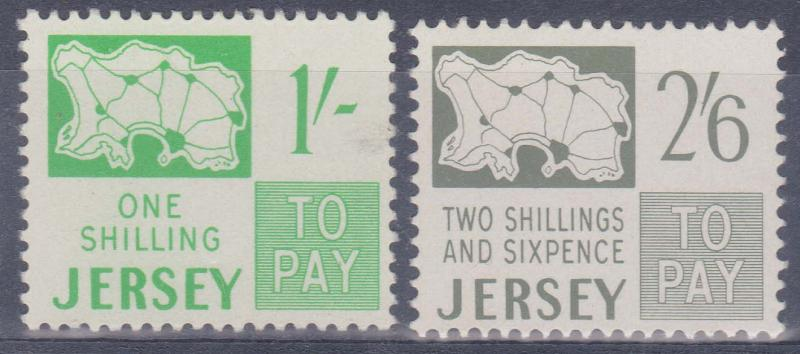 Jersey - 1969 Dues 1/- and 2/6 VF-NH Sc. #J5-J6