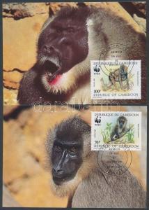 Cameroon stamp WWF Drill set 4 CM 1988 Mi 1155-1158 WS207264