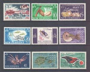Vanuatu New Hebrides Scott 96/104 - SG98/106, 1963 Pictorial Set to 1f MH*