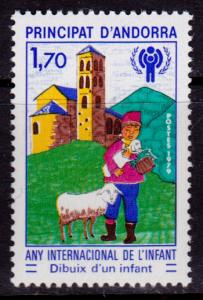 French Andorra 272 MNH - International Year of the Child (1979)