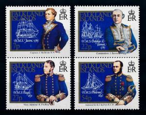[71896] Falkland Islands 1985 Captains' Ships  MNH