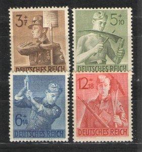 Germany - Third Reich 1943 Sc# B237-B240 MHR G - Reich Labor Service