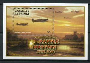 Antigua & Barbuda 2000 MNH WWII WW2 Battle of Britain 1v S/S II Spitfires Stamps