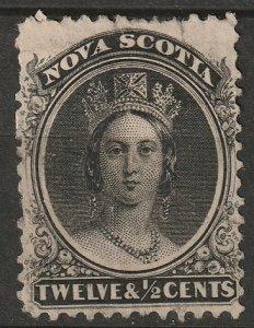 Nova Scotia 1860 Sc 13 MNG small tear at top