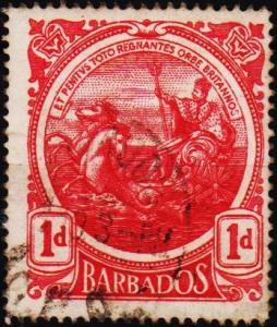 Barbados. 1916 1d S.G.183a Fine Used