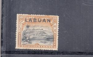 LABUAN 1897 18C SG 101 VALUES  MINT