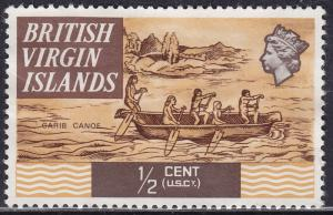 British Virgin Islands 206 Carib Canoe 1970