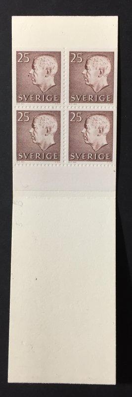 Sweden 1962 #583b Booklet, MNH, CV $2.25