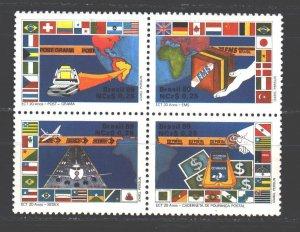 Brazil. 1989. 2289-92. Post services. MVLH.
