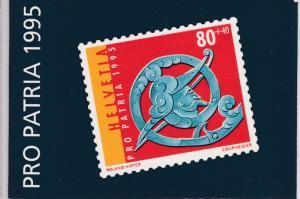 Switzerland 1995 Pro-Patria Semi Postal Booklet Post Office Fresh