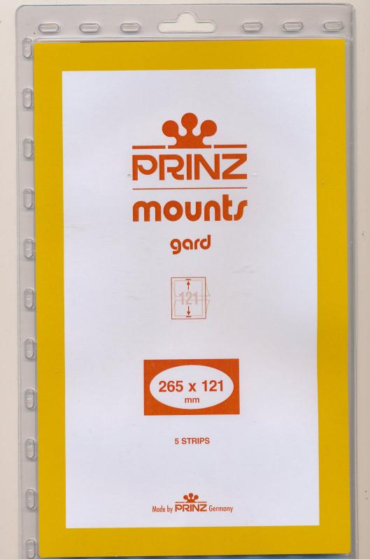 Prinz Stamp Mount 121/265 CLEAR Background Pack of 5
