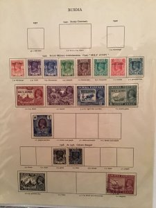 Burma 1937 to1946  stamp pages R23380