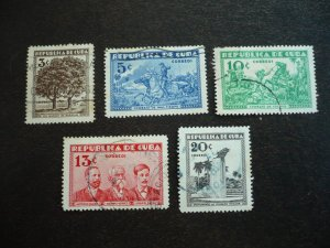 Stamps - Cuba - Scott# 312-316 - Used Set of 5 Stamps