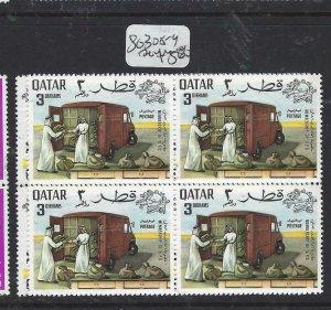 QATAR  (P2506BB)  UPU      SG 308-9    BL OF 4  MNH