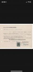 1949 GERMANY Solingen Steel Co Certificate Receipt WERTMARKE 50 Reichspfennig