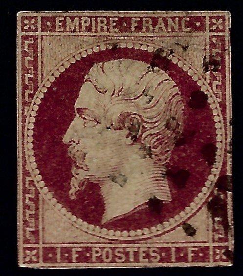 France Sc #21 four margin F- VF Used.SCV$2475...Iconic!!