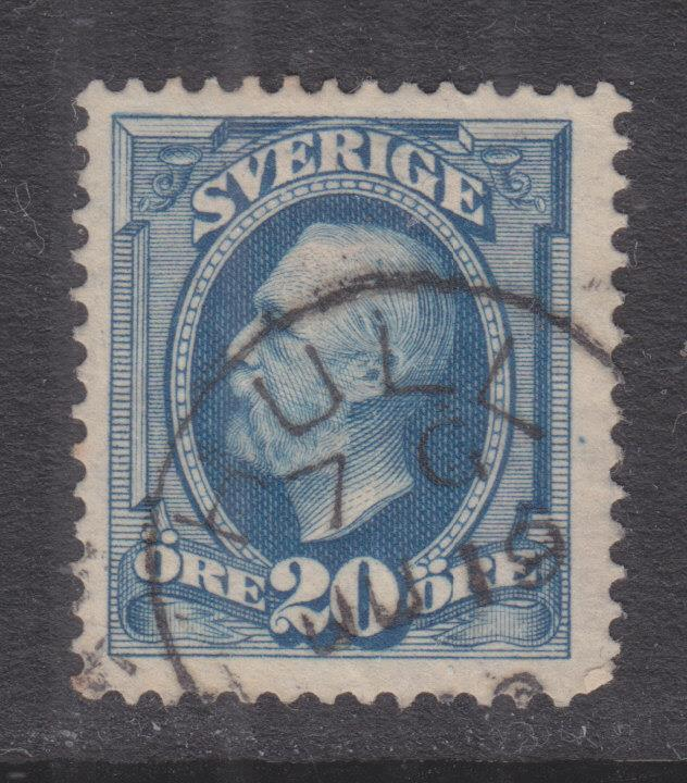 SWEDEN, c1900 20o. Blue canc. British Hull cds.