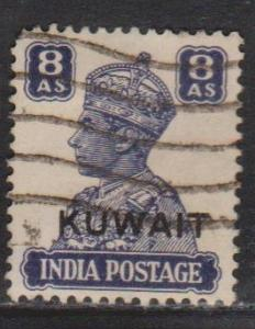 KUWAIT Scott # 69 Used - India Stamp With Overprint
