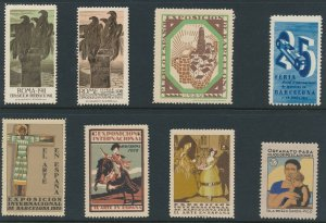 Lot Stamp Label Italy Spain Exposition Cinderella Rome Roma Feria Barcelona MNH