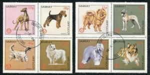 GAIRSAY (SCOTLAND) 1984 DOMESTIC DOGS - ROTARY INTERNATIONAL SET OF 8 STAMPS!
