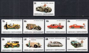 Grenada Grenadines 544-553 Cars MNH VF