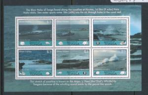 Kingdom of Tonga #1202 MNH Souvenir Sheet / Blow Holes of Tonga - FOS102