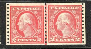 [ST]  1917 US #492 Mint-VLH ~ Joint Line Coil Pair [Perf 10 Vertically] Type III