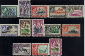 British Solomon Islands Sc# 67-7 (SG 60-72) F-VF MLH
