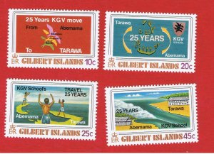 Gilbert Islands #313-316  MNH OG  Schools Free S/H