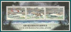 Cocos 1993 Rescue, MS MNH 285a,SGMS292