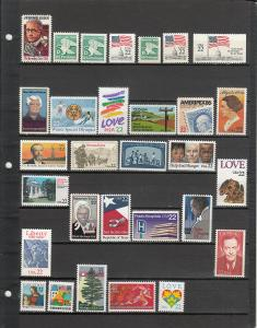 58 DIFFERENT US MNH 22 CENT STAMPS FROM 2110/3263 2019 SCV $31.35
