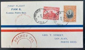 1929 Port Au Prince Haiti First Flight Airmail Cover To San Juan Puerto Rico