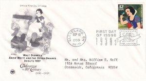 1998, Snow White Debuts 1937, PCS, FDC (E11355)