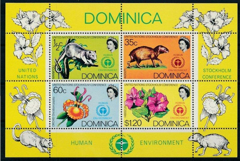 [I897] Dominica Fauna Flora good sheet very fine MNH