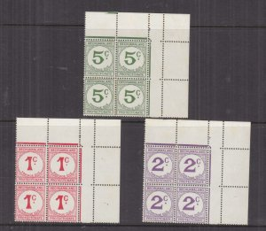 BECHUANALAND, POSTAGE DUE, 1961 Decimal Currency, 1c. Large C & Dot, in block