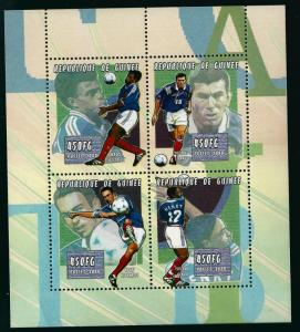 Guinea SC#1840 Soccer SS MNH VF...Amazing Topicals..prices are rising!!