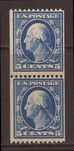 United States scott #351 pair m/h stock #33855