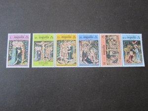 Anguilla 1976 Sc 258b Christmas Religion set MNH