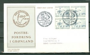 GREENLAND HELOCOPTERS #85 BLK on FDC