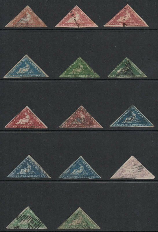 Cape of Good Hope Triangle Collection - 14 in Total