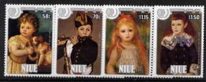 Niue 488-91 MNH Art, Paintings, International Youth Year, Children