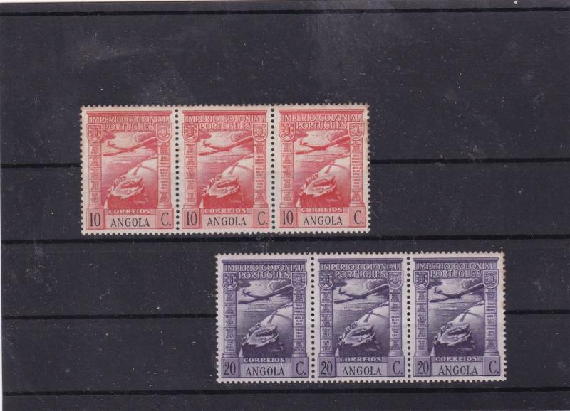 angola 1938 mnh portugal colony overprints stamps blocks Ref 9338