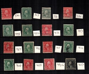 United States 16 used lot Cat$ 205.00