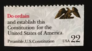 US #2359 Used XF - Do ordain and establish... Constitution for the USA