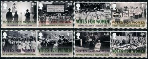 HERRICKSTAMP GREAT BRITAIN Sc.# 3696-3706 Votes for Women Setenant Pairs