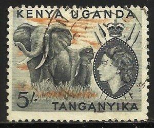 Kenya, Uganda & Tanzania 1954 Scott# 115 Used