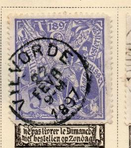 Belgium 1896-97 Early Issue Fine Used 5c. NW-04803