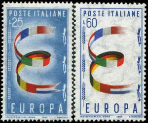 Scott #726-7 United Europe  MNH