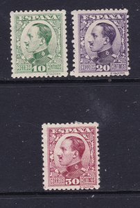 Spain x 3 MH From the 1930 Alfonso set